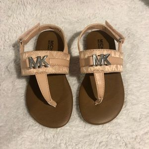 Michael Kors Pink Logo Sandal